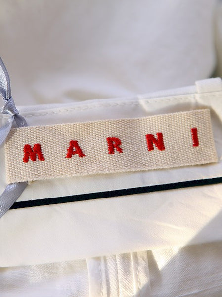 Logo on Marni White Cotton Shorts
