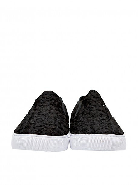 Black Slipons