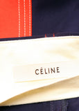 Logo on Celine Blue Trousers