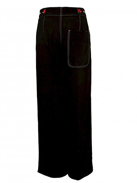 Luxury Celine Black Trousers - back view