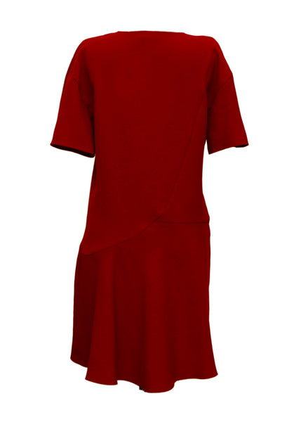 Bordo Color Flared Dress