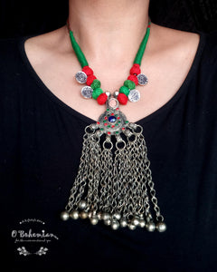 Afghan  Waziri necklace with coins