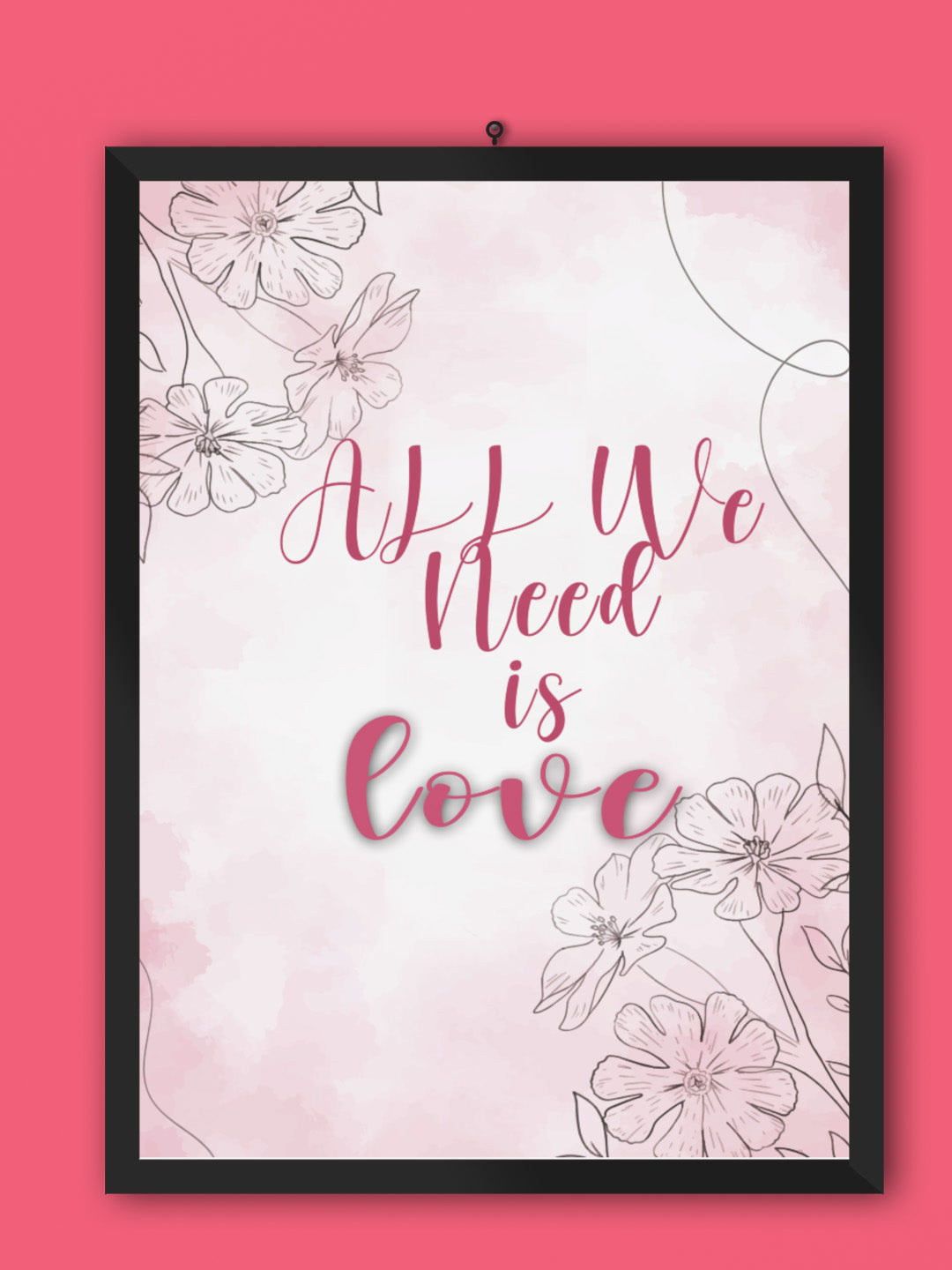 All We Need Is Love Framed Wall Art