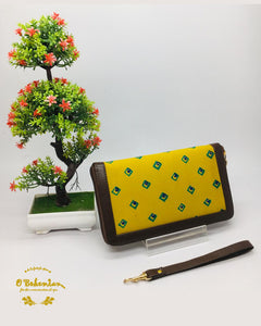 Ethnic cotton printed wallet cum clutch bag