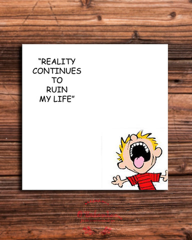 'Reality ' Calvin fridge magnet