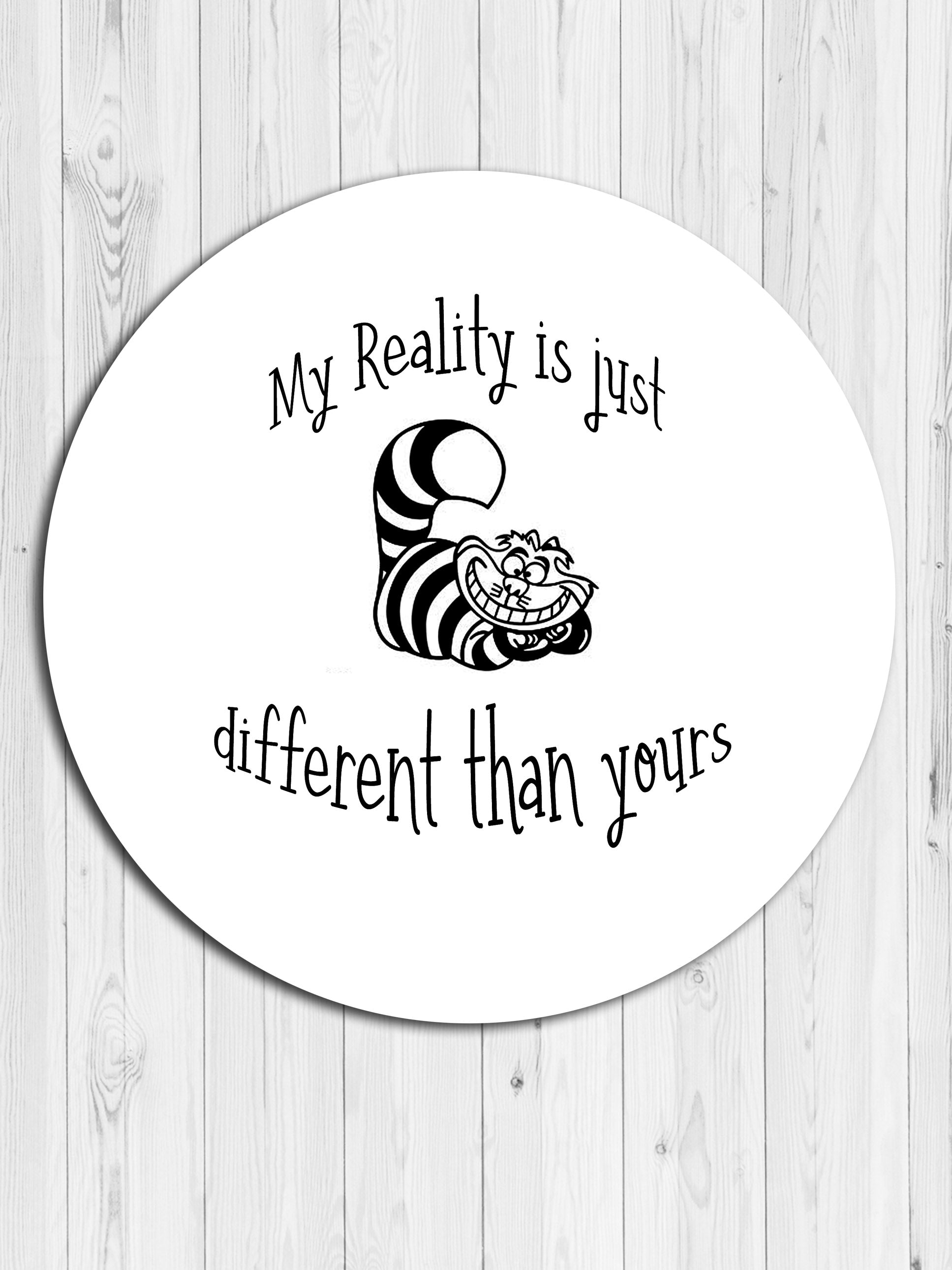 The Cheshire Cat Round Coaster