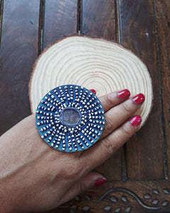 Beaded fabric ring FR15