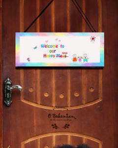 'Happy Mess' Door hanging