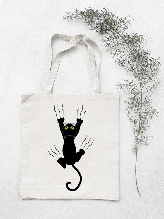 Kitty In Distress Cotton Tote Bag