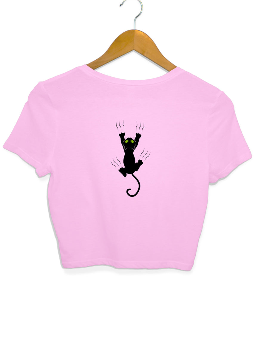 Kitty in Distress Crop Top- Back Design