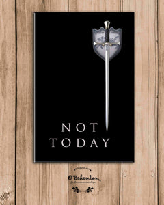 'Not Today' GOT Fridge Magnet