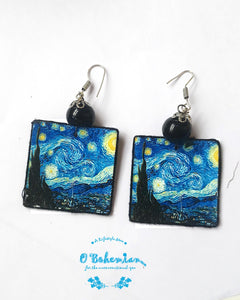 Starry Night wooden dangler