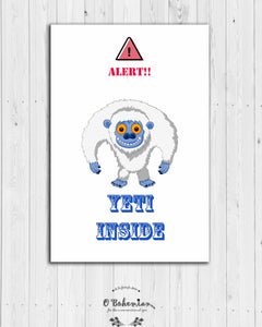 Yeti Inside Fridge Magnet
