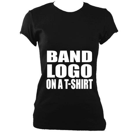 Band logo on a t-shirt women's fitted t-shirt