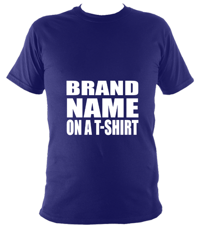 Brand name on a t-shirt unisex t-shirt