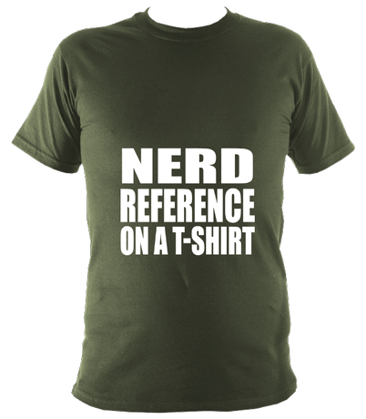 Nerd reference on a t-shirt unisex t-shirt