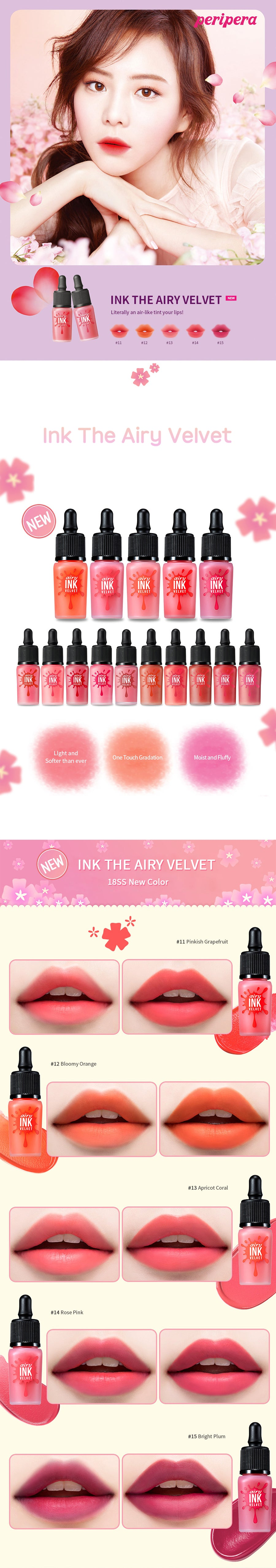 Peripera Ink The Airy Velvet 8g Beauty Meca Original Product Brand
