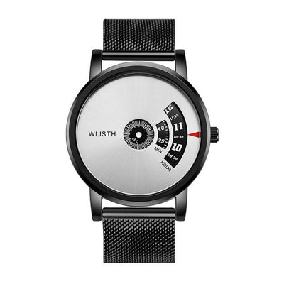 Montre Homme Wlisth Bracelet Inoxydable - Argent