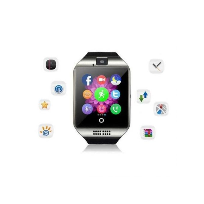 Smart Watch Q18 - Carte Sim - Appel - Caméra - Bluetooth - NFC - Sport - Noir