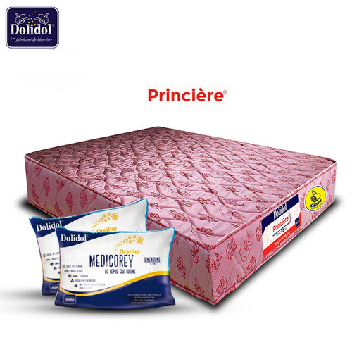 PROMO Matelas 2 Places + 2 Grands Oreillers - DOLIDOL Extra PH6