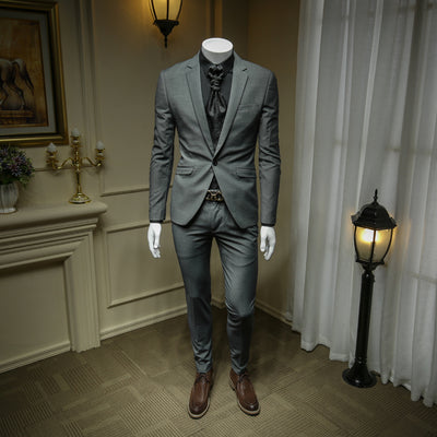 Importé - Ensemble Costume Homme Slim Fit Gris - Veste + Pantalon