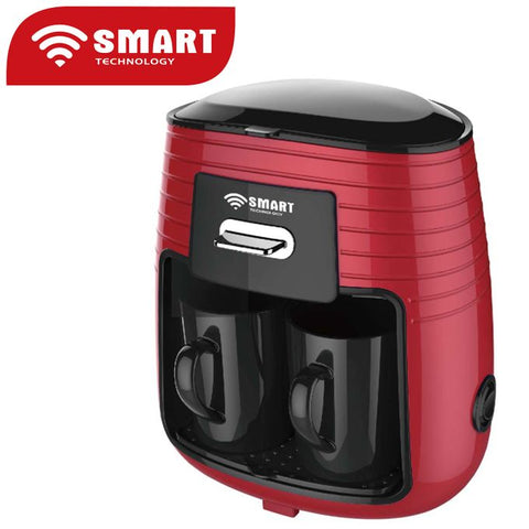 PROMO - SMART TECHNOLOGY Machine à Café à 2 Tasses - 0.25L - Rouge/Noir