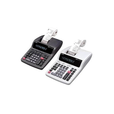 CALCULATRICE DE BUREAU A BANDE 12 CHIFFRES CASIO DR-120TM-WE