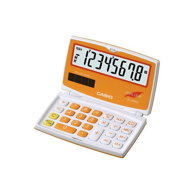 CASIO SL-100VC-OE CALCULATRICE POCHE COULEUR ORANGE