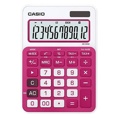 CALCULATRICE CASIO ROUGE - MS-20NC