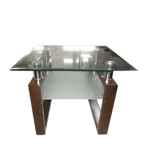 Guéridon Table Centrale 60x60x45 cm Marron