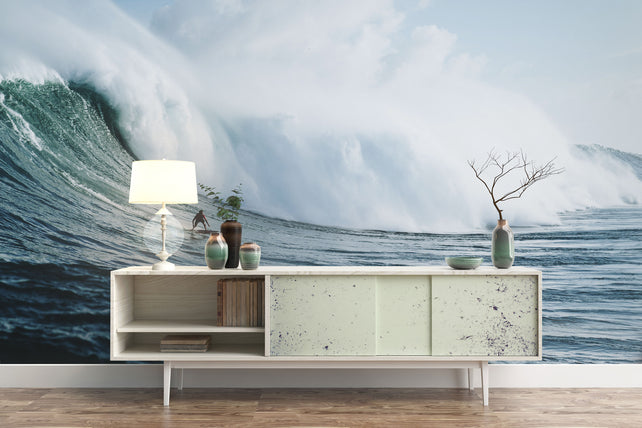 Adrenalin Surfer Ocean Wallpaper Mural Sofa