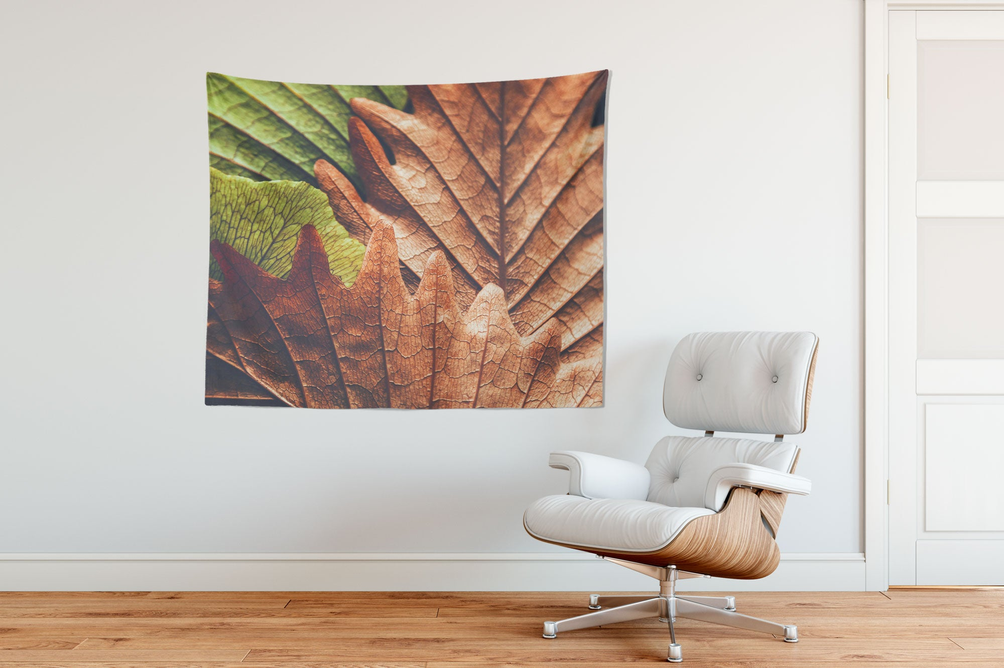 Autumnal Leaves Tapestry Chair