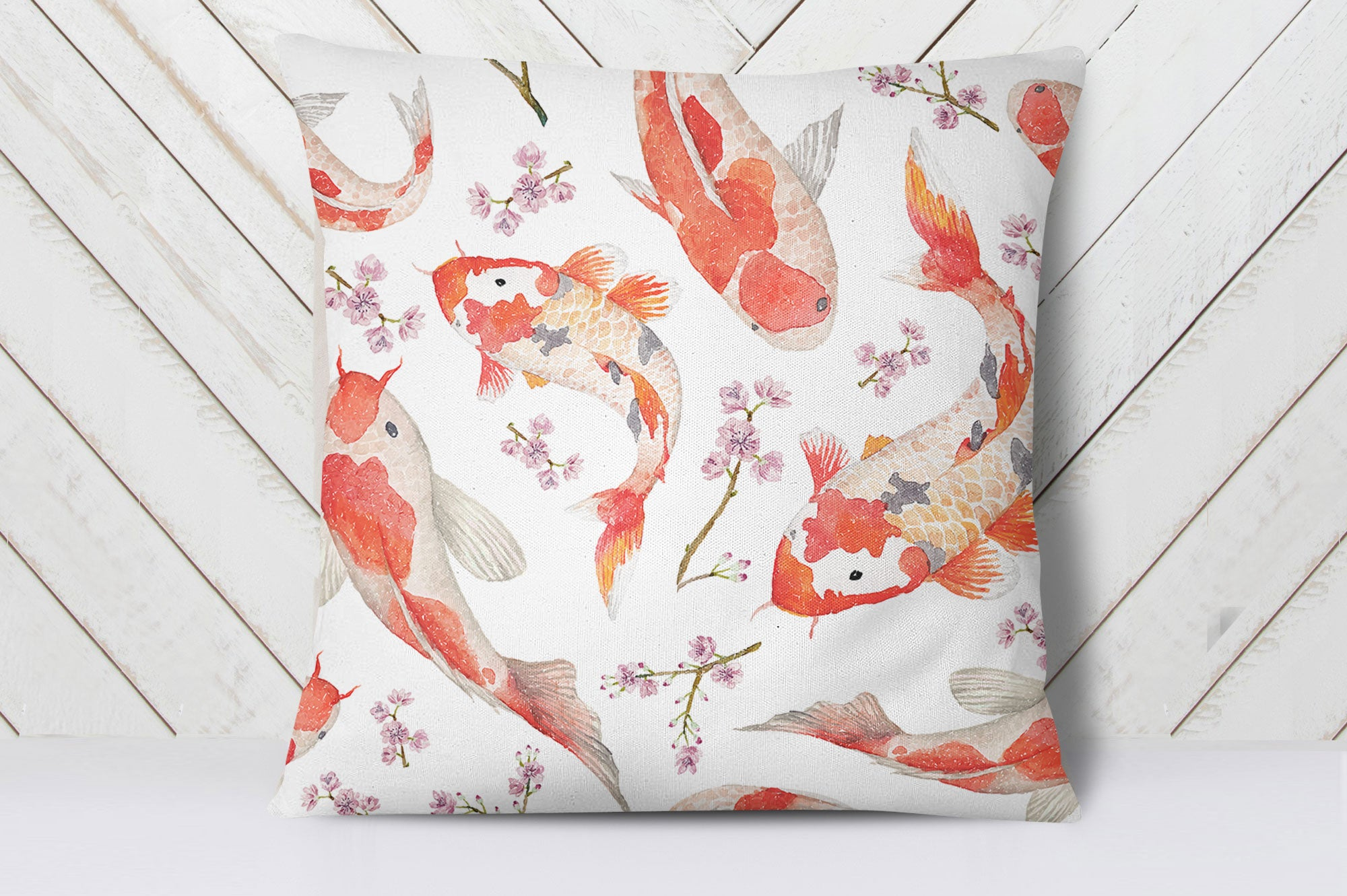 Blossom Koi Carp Cushion Cover