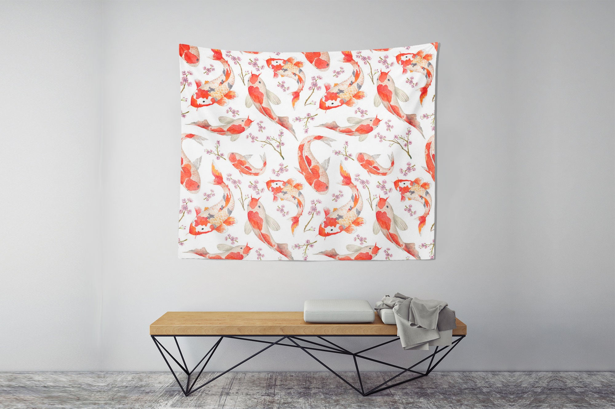 Blossom Koi Carp Tapestry Chair