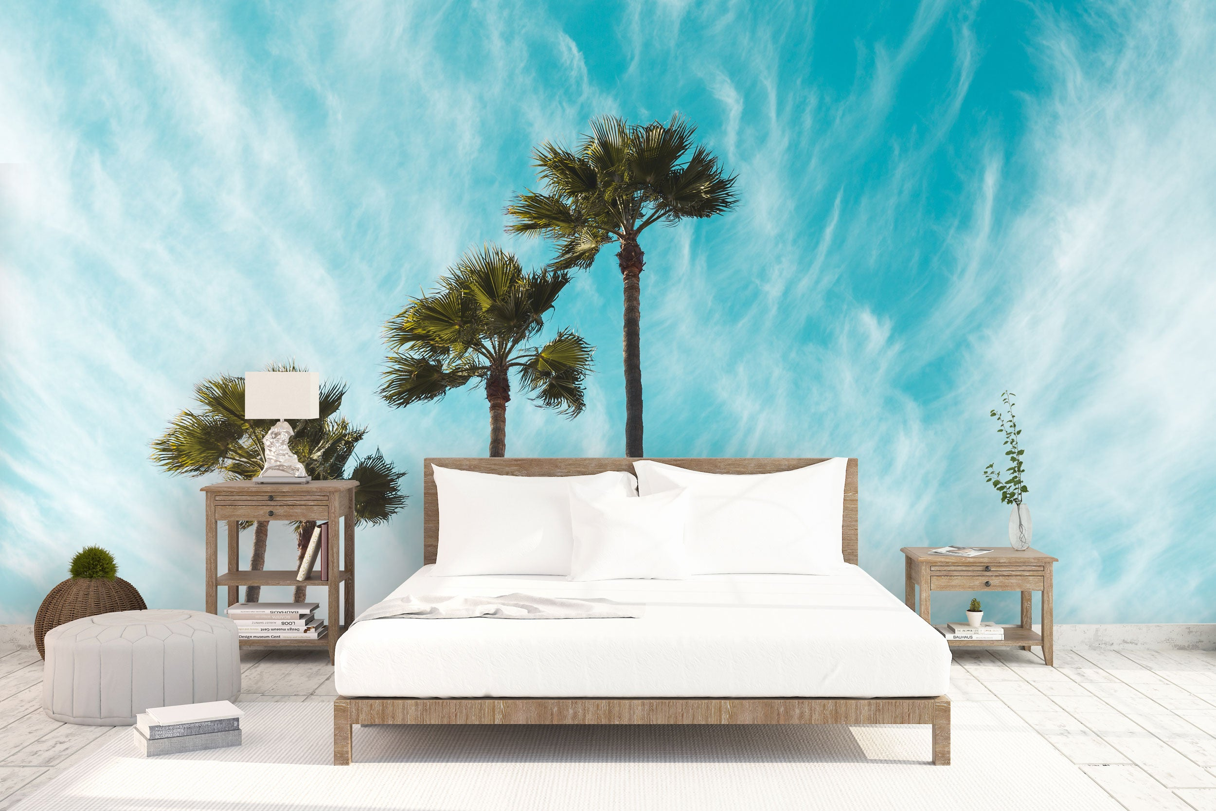 Blue Palm Trees bed