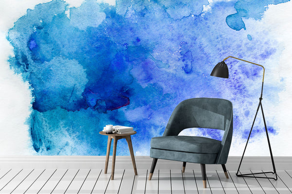 Blue Watercolour chair