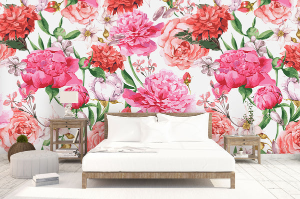 Bunch Of Peonies Bed