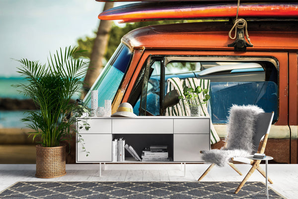 Campervan Surfboard wallpaper murals Chair