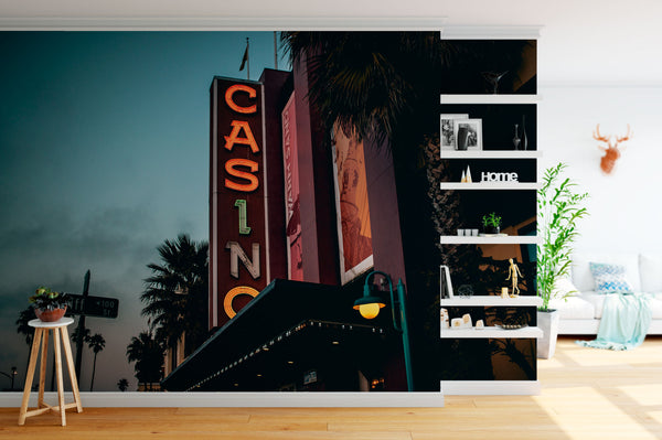 Casino Neon Sign Desk