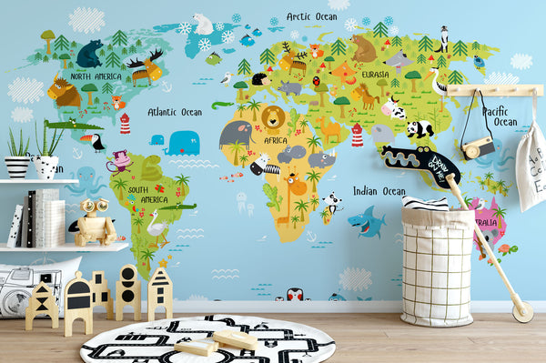 Children's Map Of The World chair
