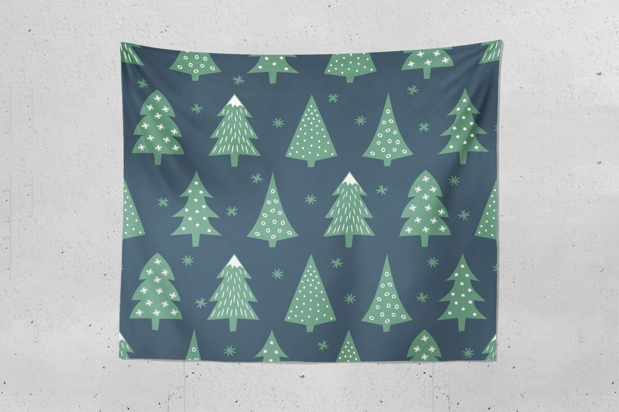Christmas Tree Forest Wall Tapestry