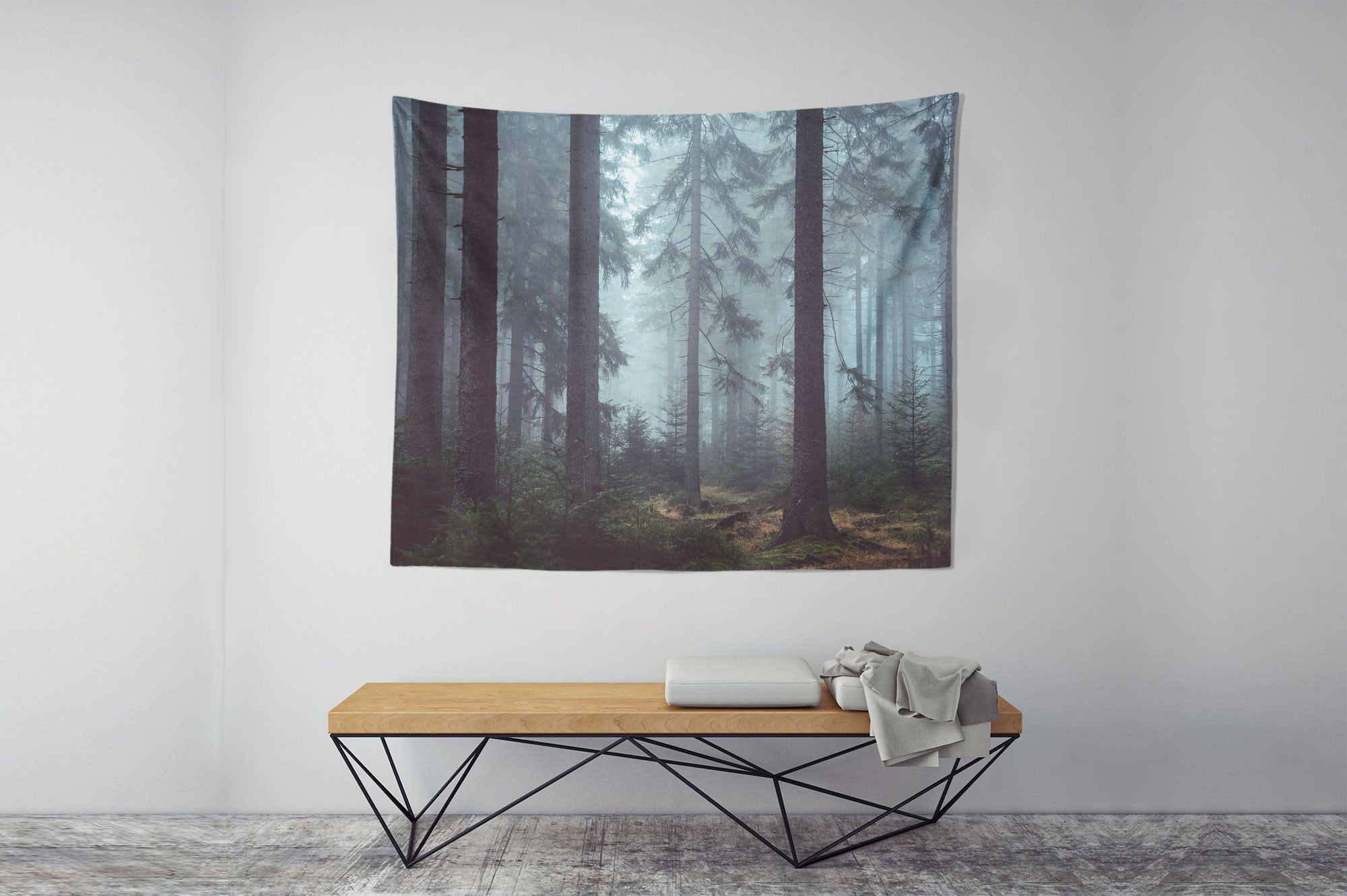 Cold Forest Wall Tapestry room