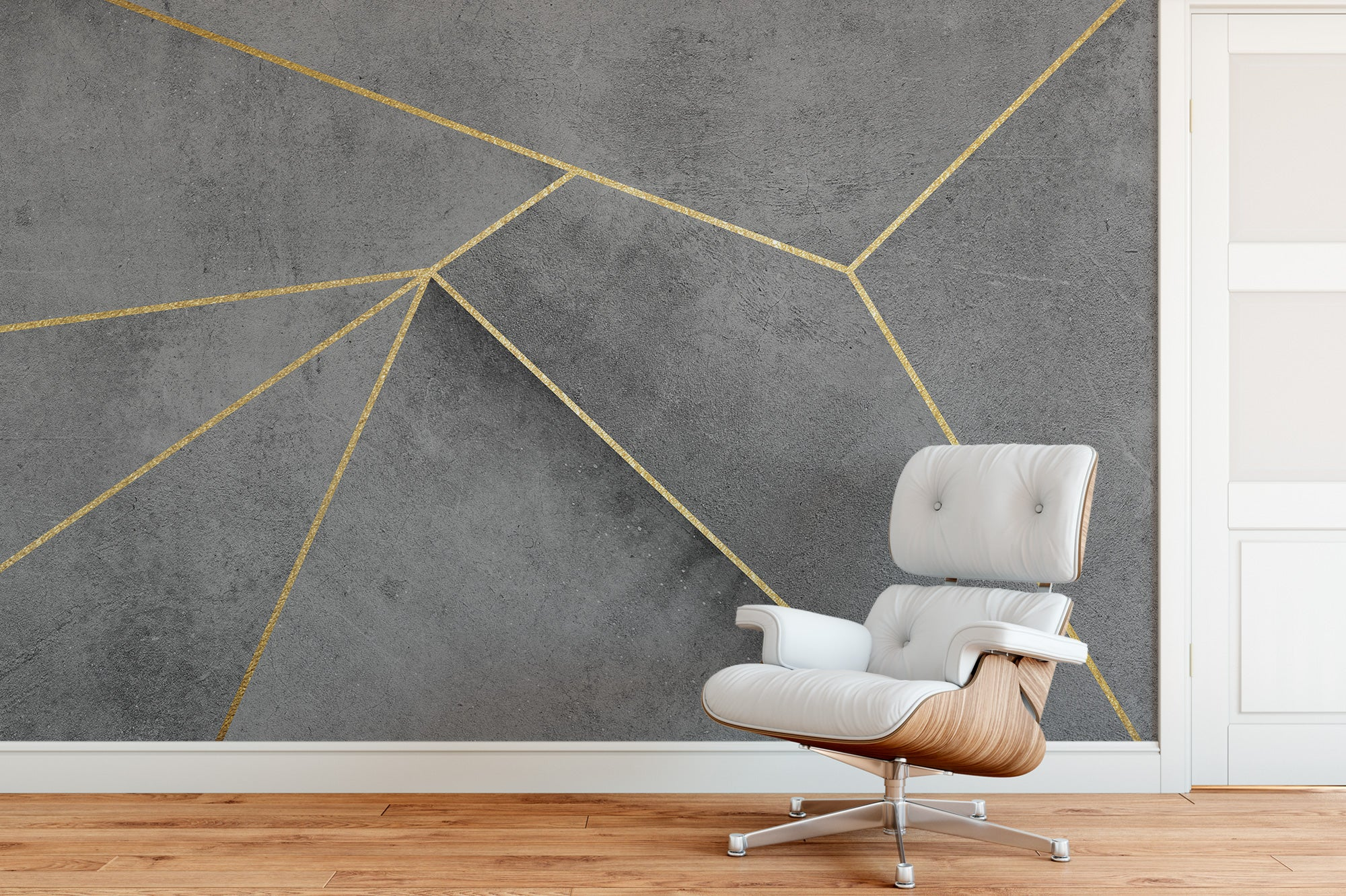 Concrete Gold Lines Chair