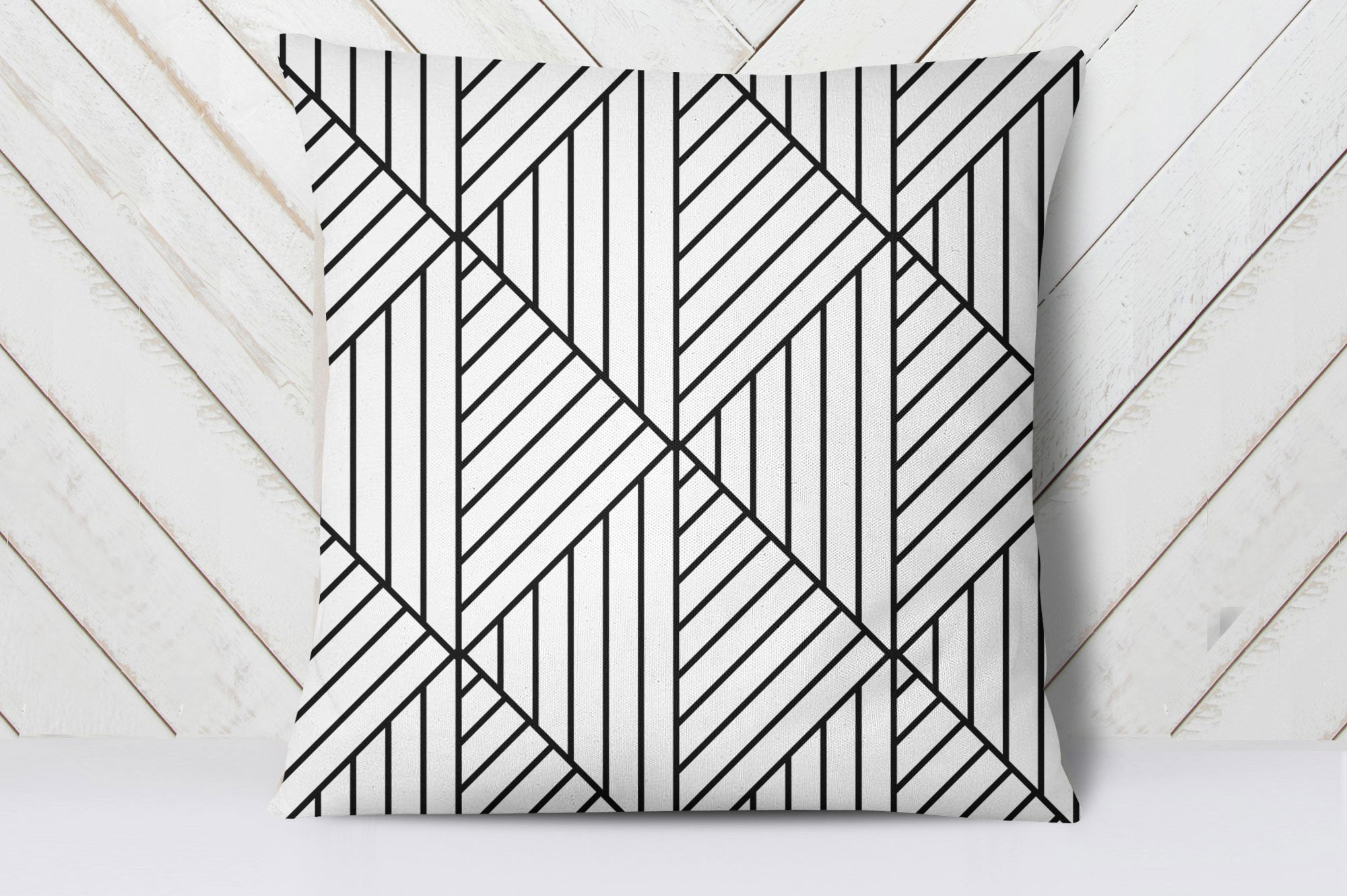 Cube Lines Cushion Cover
