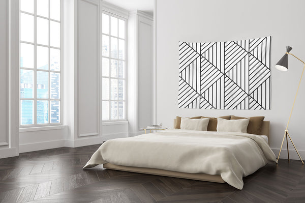 Cube Lines Wall Tapestry