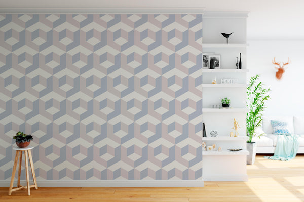 Geometric Wallpaper Mural lounge