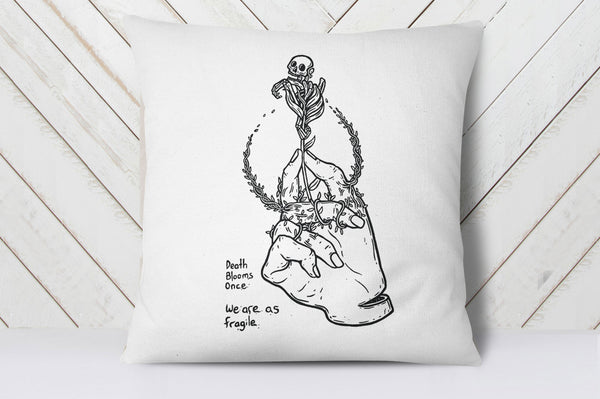 Death Blooms Once Cushion Cover