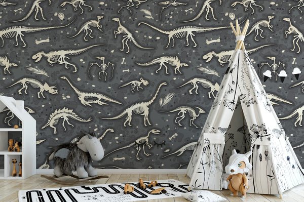 Dino Bones Wallpaper Murals