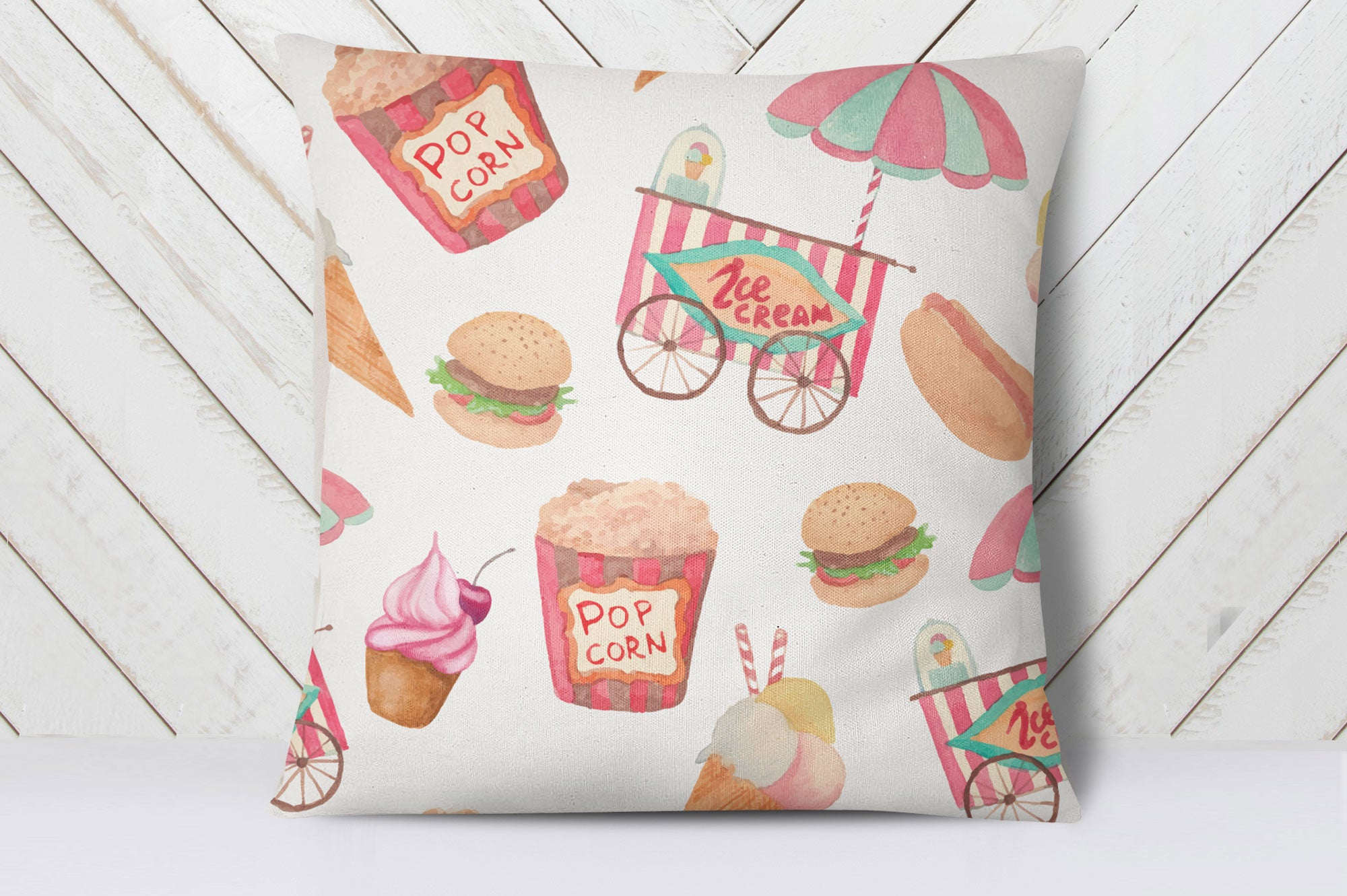 Fast Food Cushion Cover