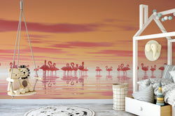Flock Of Flamingos Floating Chair